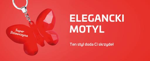 """Breloki """"ELEGANCKI MOTYL"""""""